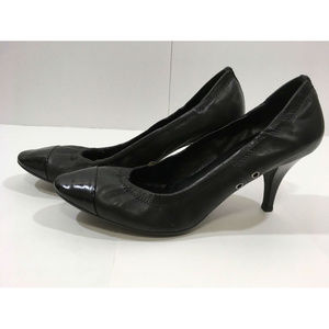 Prada Soft Leather Classic Heels Pumps Toe 37.5